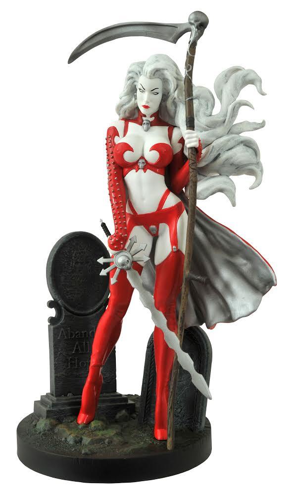 Lady Death Series III Scarlet Edition Vinyl Statue